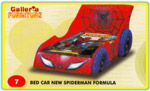Bed Car Spiderman Formula