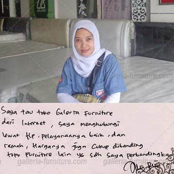 Saya tau Galleria Furniture dari internet