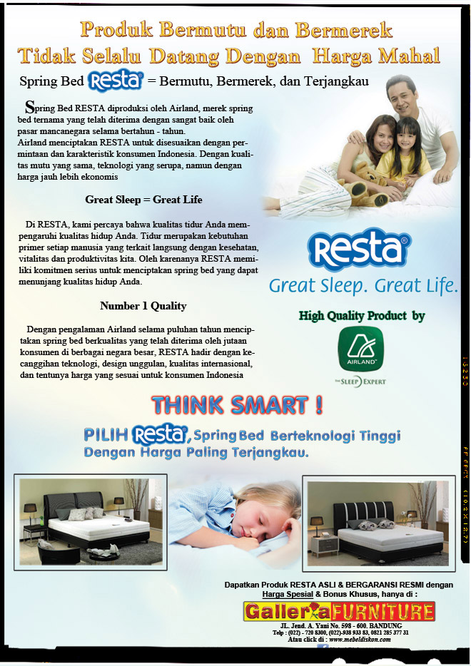 Tempat Tidur Springbed - Resta by Airland