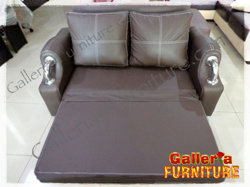 Sofa Bed-Brown on Brown